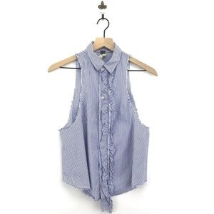 Free People We The Free Striped Button Down Tank